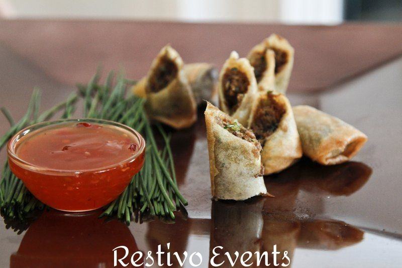 f14 - Duck Confit Spring Roll with Sweet Chili Dip
