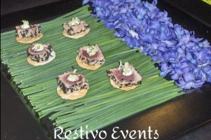catering menu asian-tuna-tartare-on-potato-gaufrette