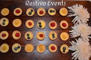 New York Catering Menu - Mini Fruit Tart with Mascapone