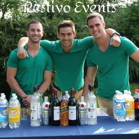 S16 - East Hamptons -  Outdoor Event Bartenders with Model Good looks